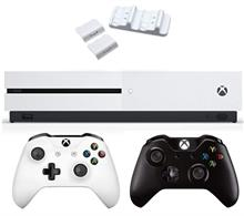 Microsoft Xbox One S 1TB  Bundle 2Gamepad Black With Dual Charging Dock